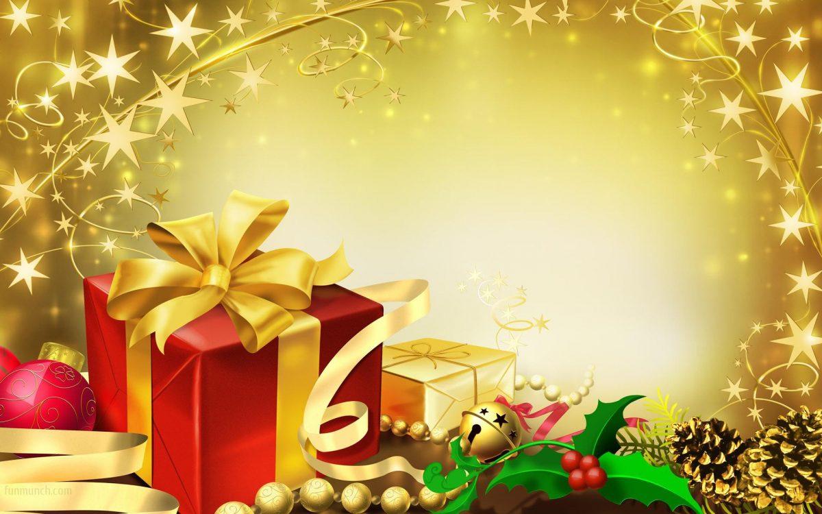 коледна картичка с подаръци