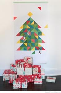 оригинална коледна елха оригами